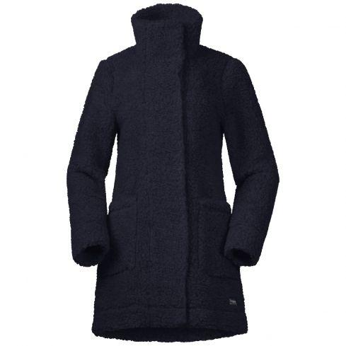 Bergans:nieuw oslo wool loosefit damesjas blauw