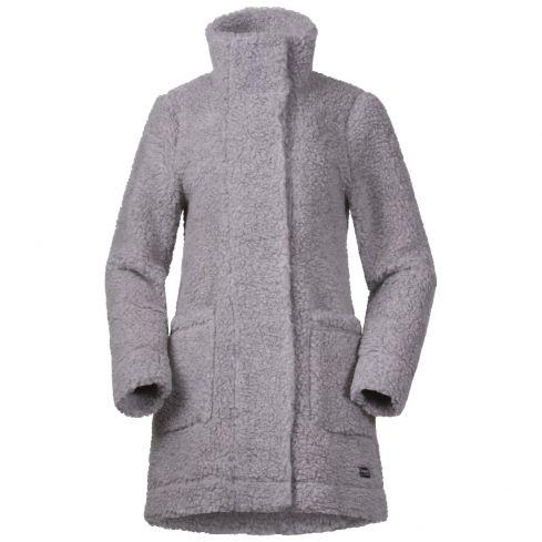 Bergans: nieuw Oslo wool loosefit dames jas grijs
