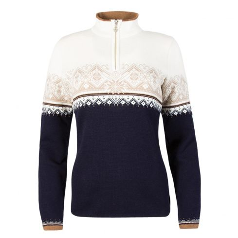 Dale of Norway: Moritz 91461 P Noorse dames pullover gemaakt van 100% Merino wol en iets getailleerd