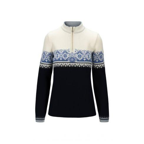 Dale of Norway: Moritz 91461R Noorse Dames trui gemaakt van 100% Merino wol en iets getailleerd
