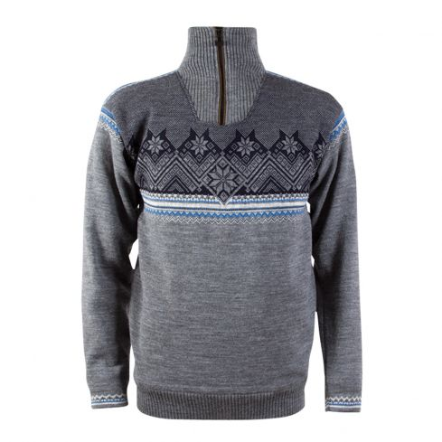 Dale: Glittertind 92881 T Noorse heren pullover met windbreaker van 100% Merino wol