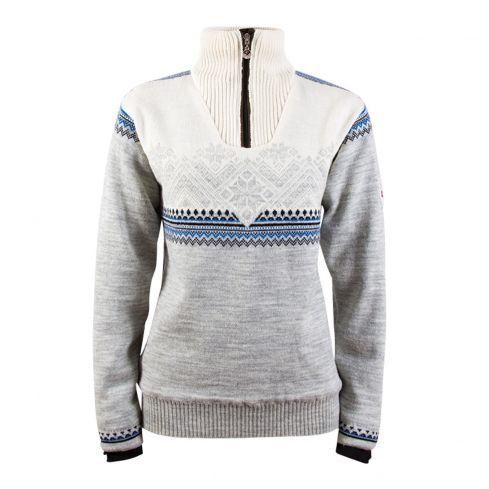 Dale: Glittertind 92981 E Noorse damespullover met windbreaker van 100% Merino wol