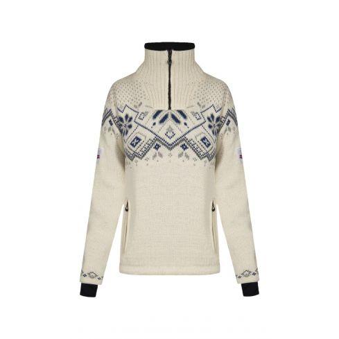 Dale of Norway: Fongen 93961A Noorse dames pullover van 100% duurzame Noorse wol iets getailleerd en winddicht