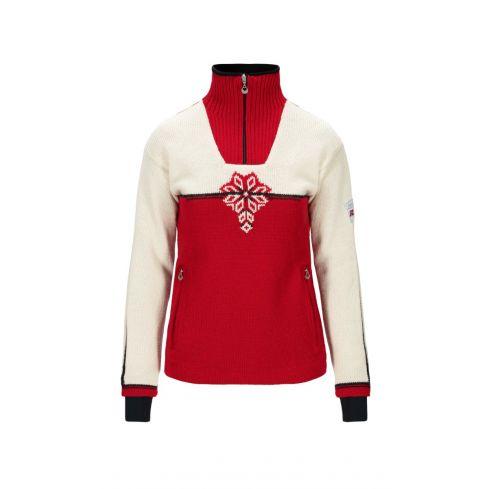 Dale of Norway: Veskre 94841 B Noorse dames pullover/trui van 100% Noorse wol en winddicht