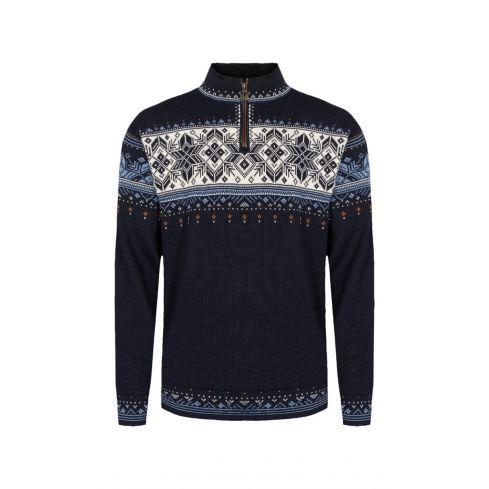 Dale of Norway: Blyfjell C 95021 Noorse trui unisex  gemaakt van 100% duurzame licht gewicht wol.