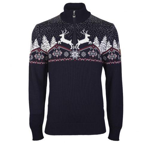 Dale of Norway: kerst 93931C Noorse heren pullover van 100% Merino wol