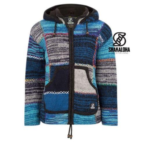 Shakaloha: Nepal vest Patchwork Mixblue