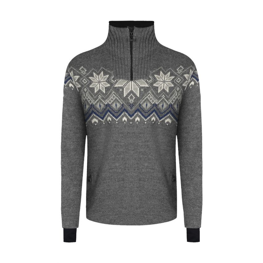 Dale of Norway: Fongen 93971E Noorse heren pullover van 100% duurzame Noorse wol en winddicht