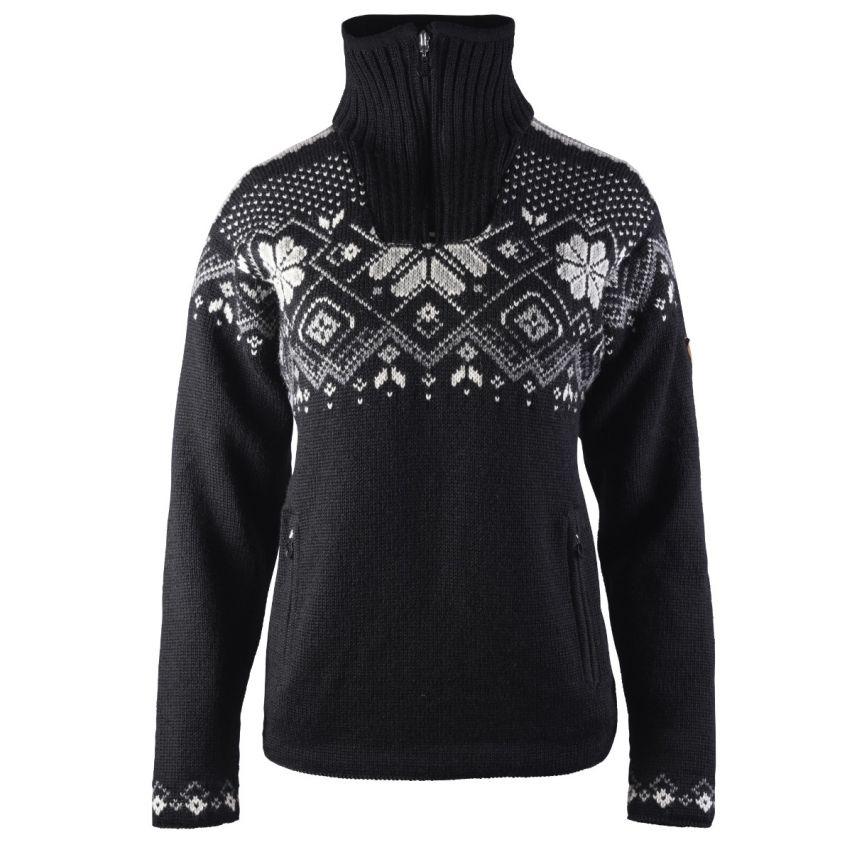 Dale of Norway: Fongen 93961FX Noorse dames pullover van 100% Noorse wol , winddicht en iets getailleerd.