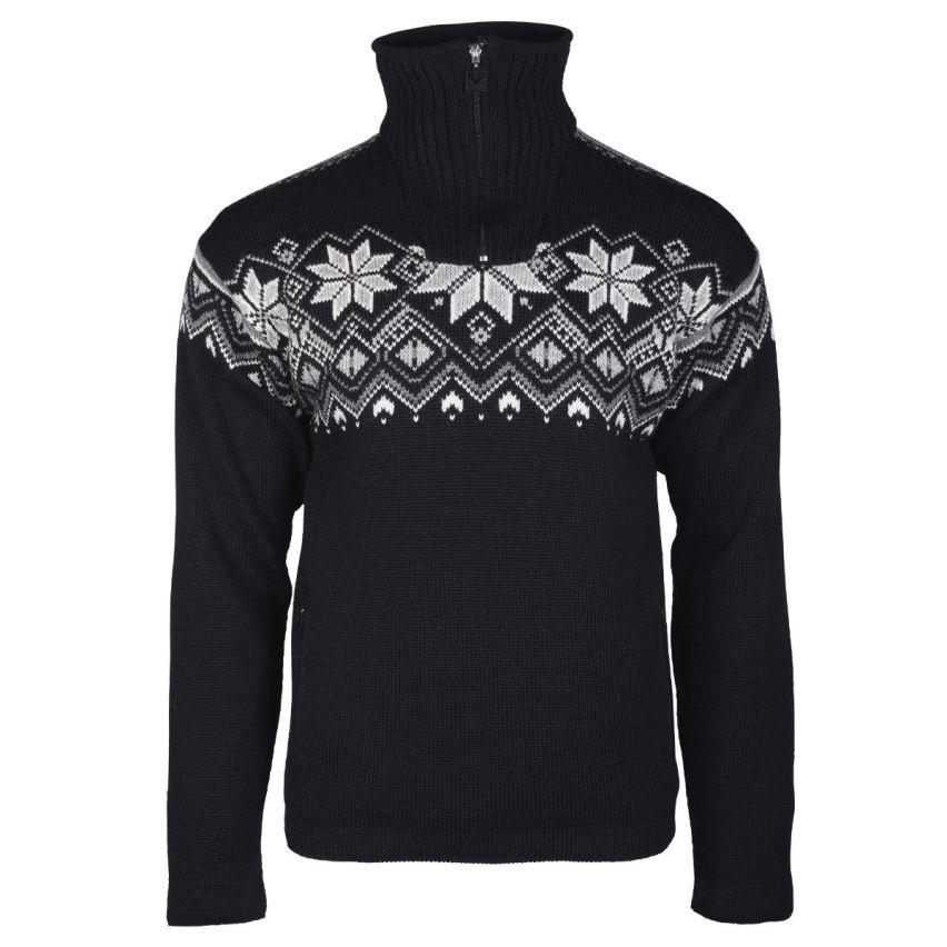 Dale of Norway: Fongen 93971F Noorse heren pullover van 100% duurzame Noorse wol en winddicht