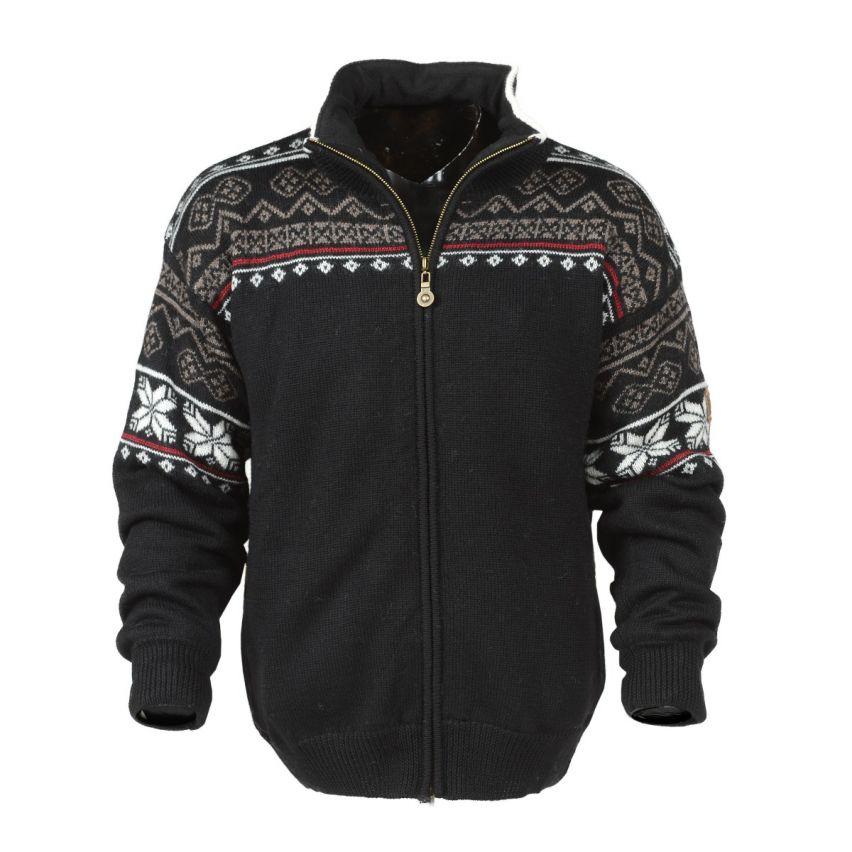 Windfjord: Roros 1502: Winddicht unisex Noors vest van 100% Merino wol met hoogwaardig fleece in de kraag