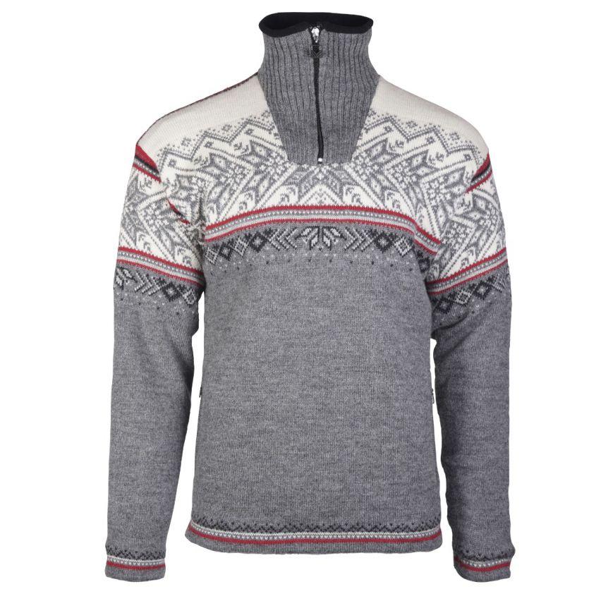 Dale of Norway: Vail 93981T Noorse heren pullover van 100%  Noorse wol en winddicht