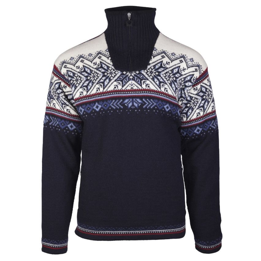 Dale of Norway: Vail WP 9398 1C Noorse heren pullover van 100% Noorse wol en winddicht